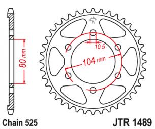 JTR1489.39 Звезда задняя 39 зуба