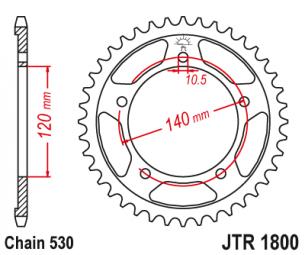 JTR1800.45 Звезда задняя 45 зуб
