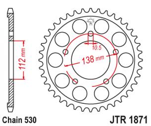 JTR1871.48 Звезда задняя 48 зубов