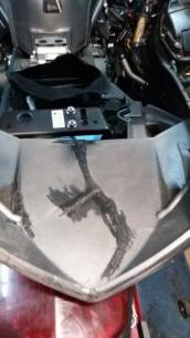 Восстановление пластика на мотоцикле yamaha