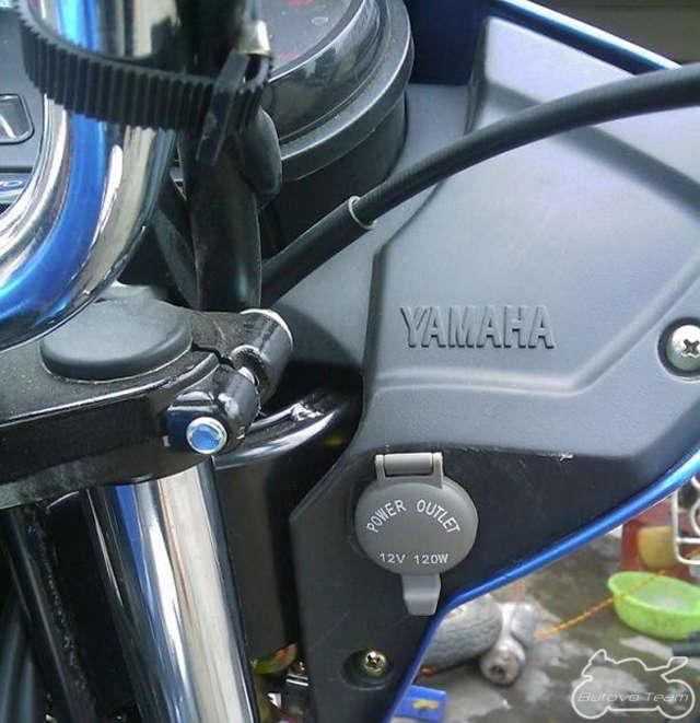 Установка розетки прикуривателя на мотоцикл