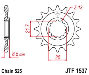 JTF1537.17 Звезда ведущая 17 зубов