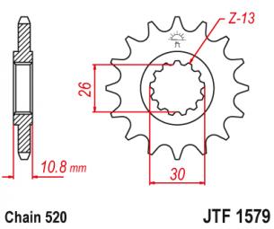 JTF1579.17 Звезда ведущая 17 зубов