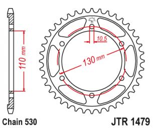 JTR1479.47 Звезда задняя 47 зуба