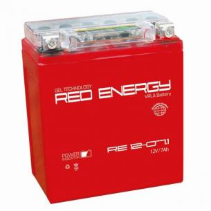 Мото аккумулятор Red Energy RE 1207.1 / YTX7L-BS